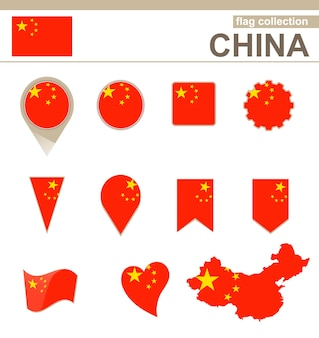 China flag collection, 12 versions