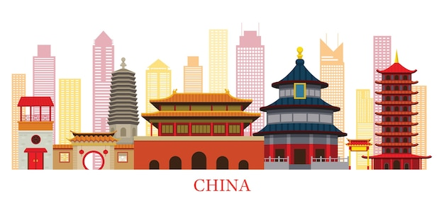 China skyline landmarks