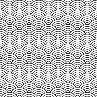 中国スタイルのシームレスなパターンの貝殻