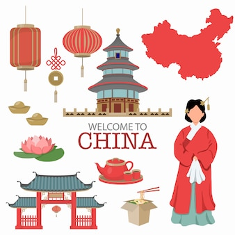 China symbol design travel concept .