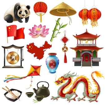 China travel icon set