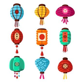 Chineese lanters decoration set