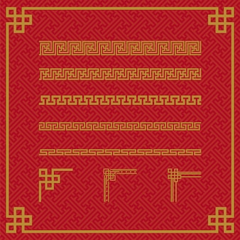 Chinese border ornament