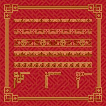 Chinese border ornament