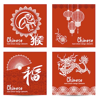 Chinese cards set