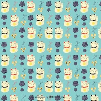 Chinese cats pattern
