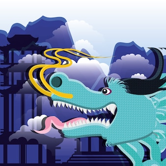 Chinese culture dragon icon