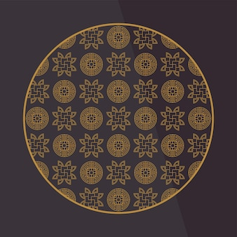 中国の装飾要素。パターン付きのフレーム、ボーダー、またはタイル。