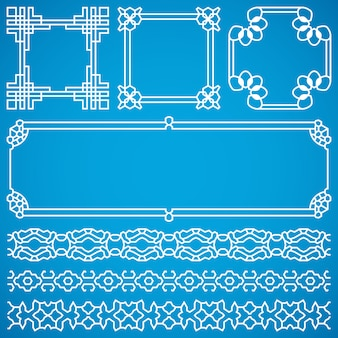 Chinese decorative frames and borders with oriental ornament