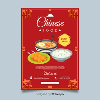 Chinese dishes restaurant flyer