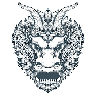 Chinese dragon artwork illustration
