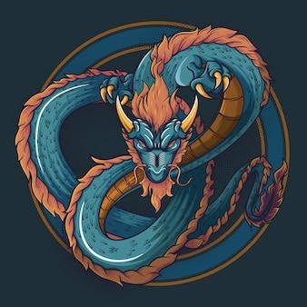 中国のドラゴンのイラスト