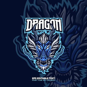 Chinese dragon mascot logo template