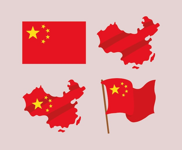 Chinese flags designs