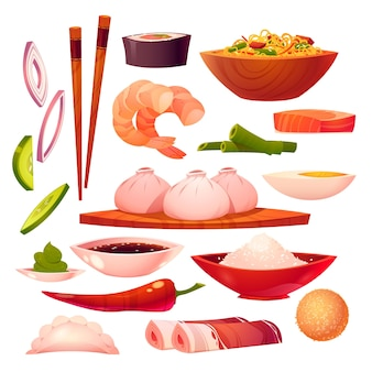 Chinese food elements collection