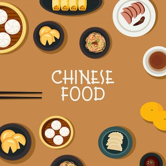Chinese food vector