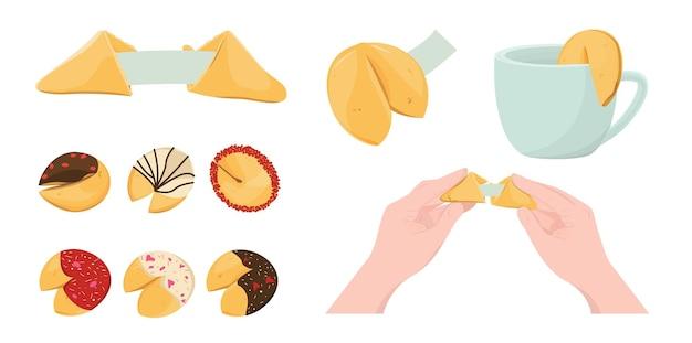 Набор китайского печенья с предсказанием