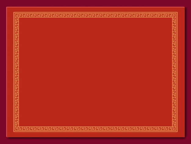 Chinese frame background. red and gold color. hand crafted art.