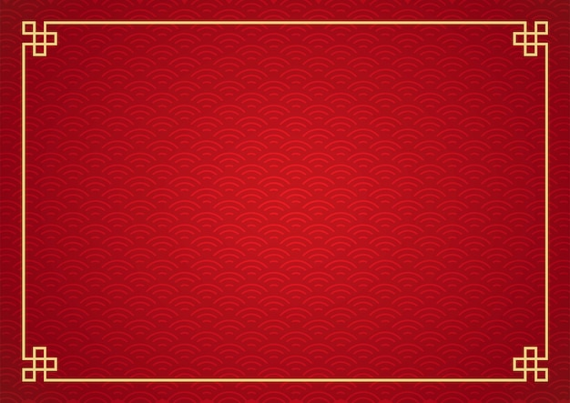 Chinese frame background. red and gold color.