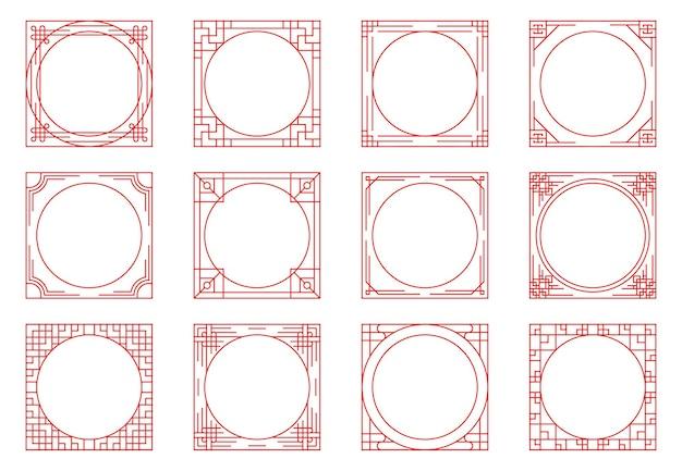Китайская рамка на винтажном стиле