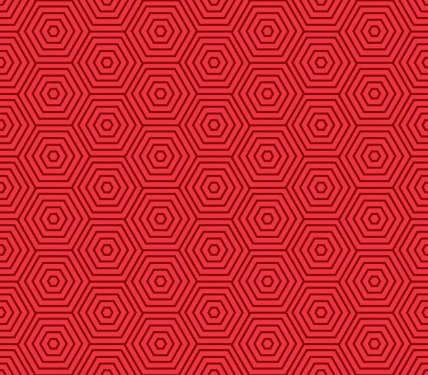 Chinese hexagon spiral pattern seamless