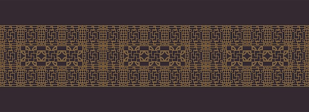 Chinese, japanese, asian luxurious traditional frame border patterns