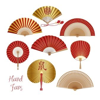 Chinese and japanese paper folding fan .