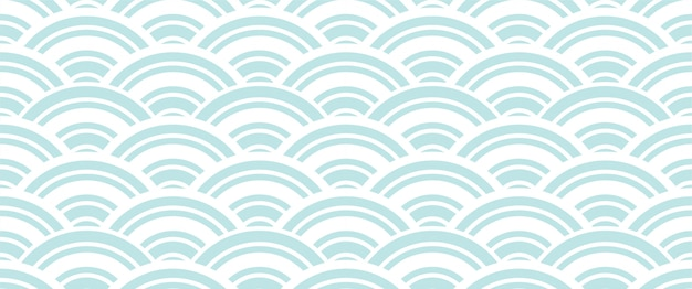 Chinese And Japanese Wave Seamless Wallpaper Vector