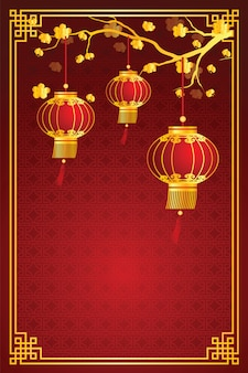 Chinese lantern template