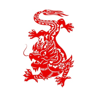 Chinese lunar new year powerful vector dragon