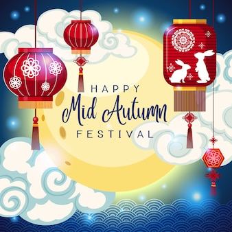 Chinese mid autumn festival background