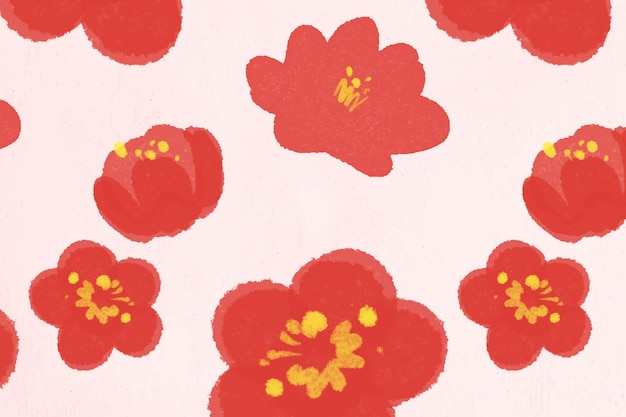 中国の国花柄