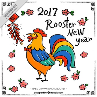 Chinese new year 2017, rooster