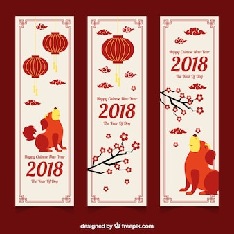 Chinese new year 2018 banners