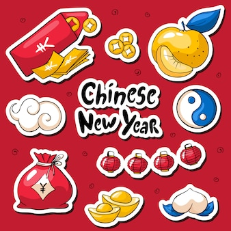 Chinese new year 2019 stickers
