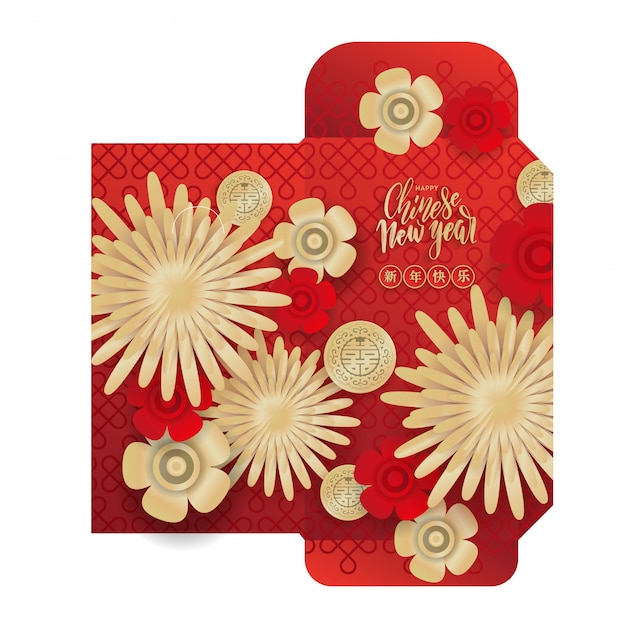 Chinese new year 2020 lucky red envelope