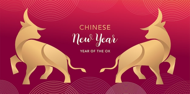 Chinese new year 2021 year of the ox, chinese zodiac symbol of red cow.