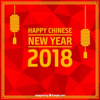 Chinese new year background design with lanterns