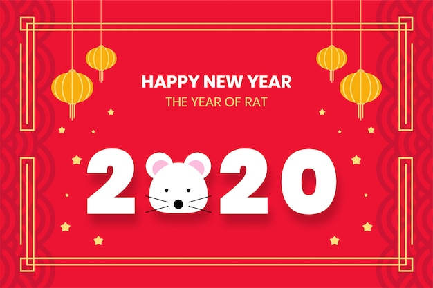 Chinese new year background design