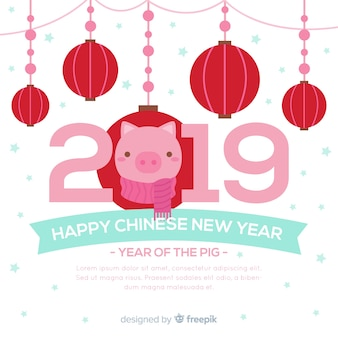 Chinese new year background template
