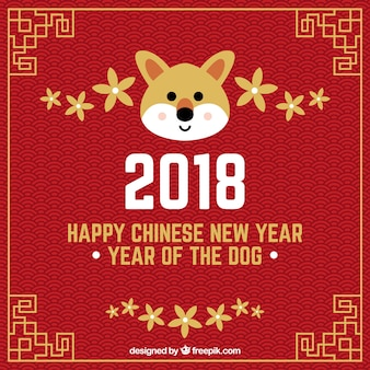 Chinese new year background with dog face