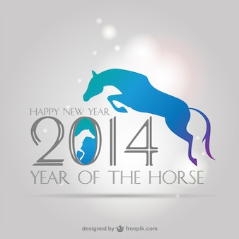 Chinese new year background with a jumping horse