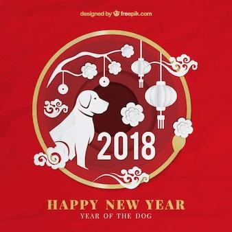 Capodanno cinese con forme di carta