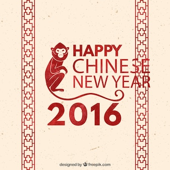 Chinese new year background with red decoration
