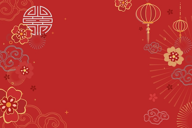Chinese new year celebration festive red greeting background