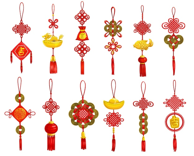 중국 새 해 장식 및 장식 아이콘