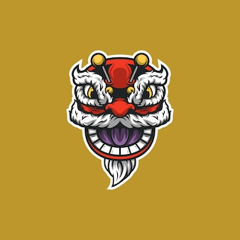 Chinese new year dragon head illustration