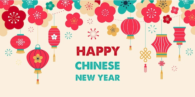 Chinese new year, greeting card