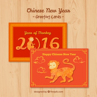 Chinese new year greeting cards pack
