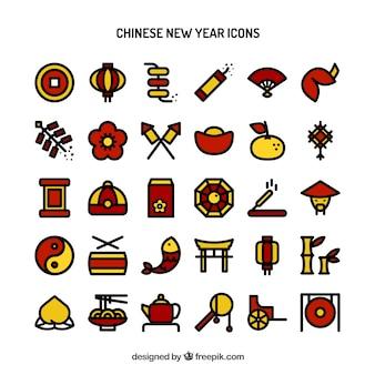 Китайский новый год иконки